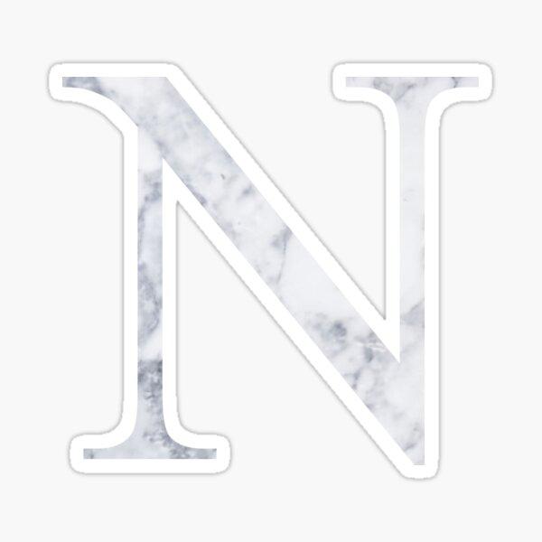 N Nu White Marble Sticker