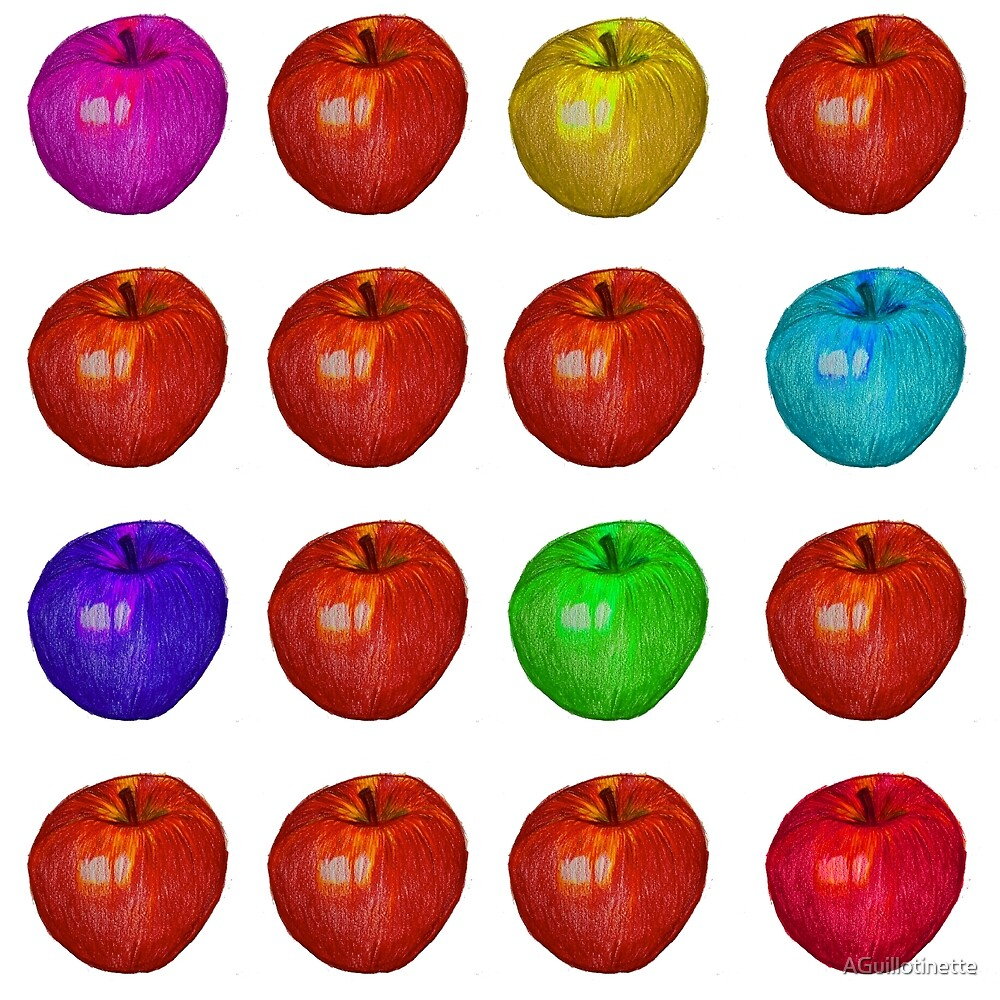 Apple-a-day print by AGuillotinette