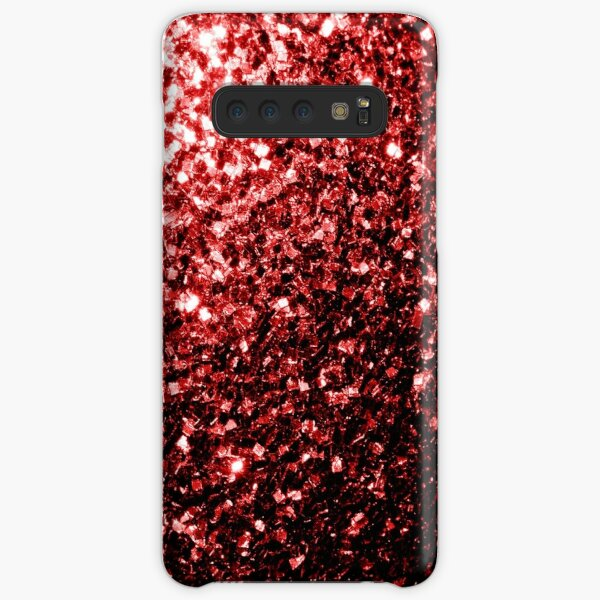 Beautiful Glamour Red Glitter sparkles Samsung Galaxy Snap Case