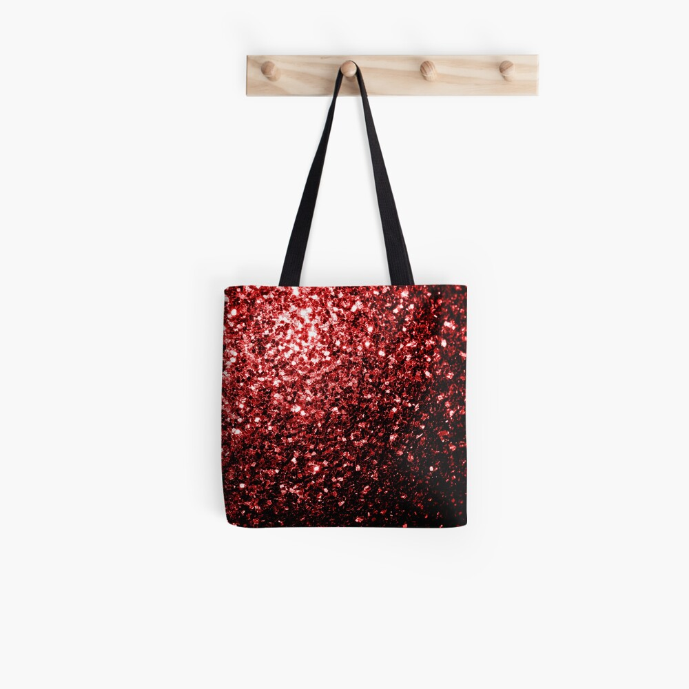 Beautiful Glamour Red Glitter sparkles Tote Bag