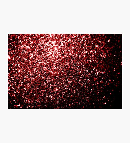 Beautiful Glamour Red Glitter sparkles Photographic Print