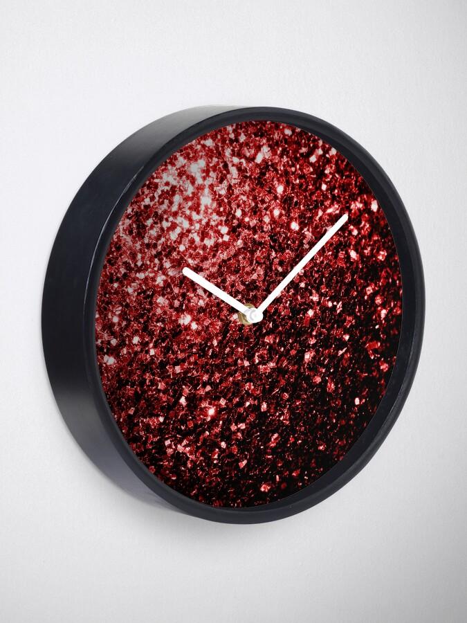 Vista alternativa de Reloj Glamour hermoso brillo rojo brilla