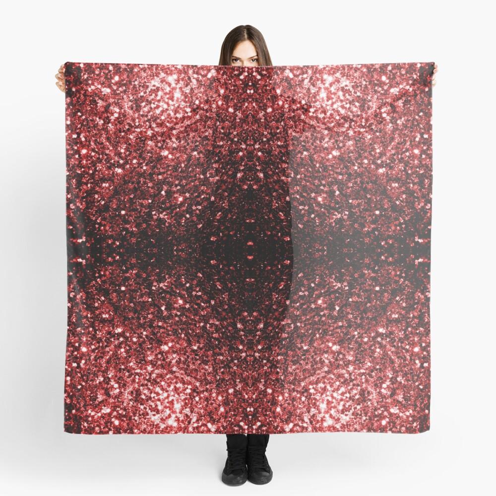 Glamour hermoso brillo rojo brilla Pañuelo