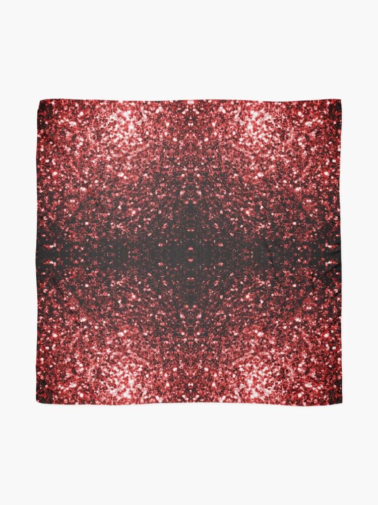 Vista alternativa de Pañuelo Glamour hermoso brillo rojo brilla