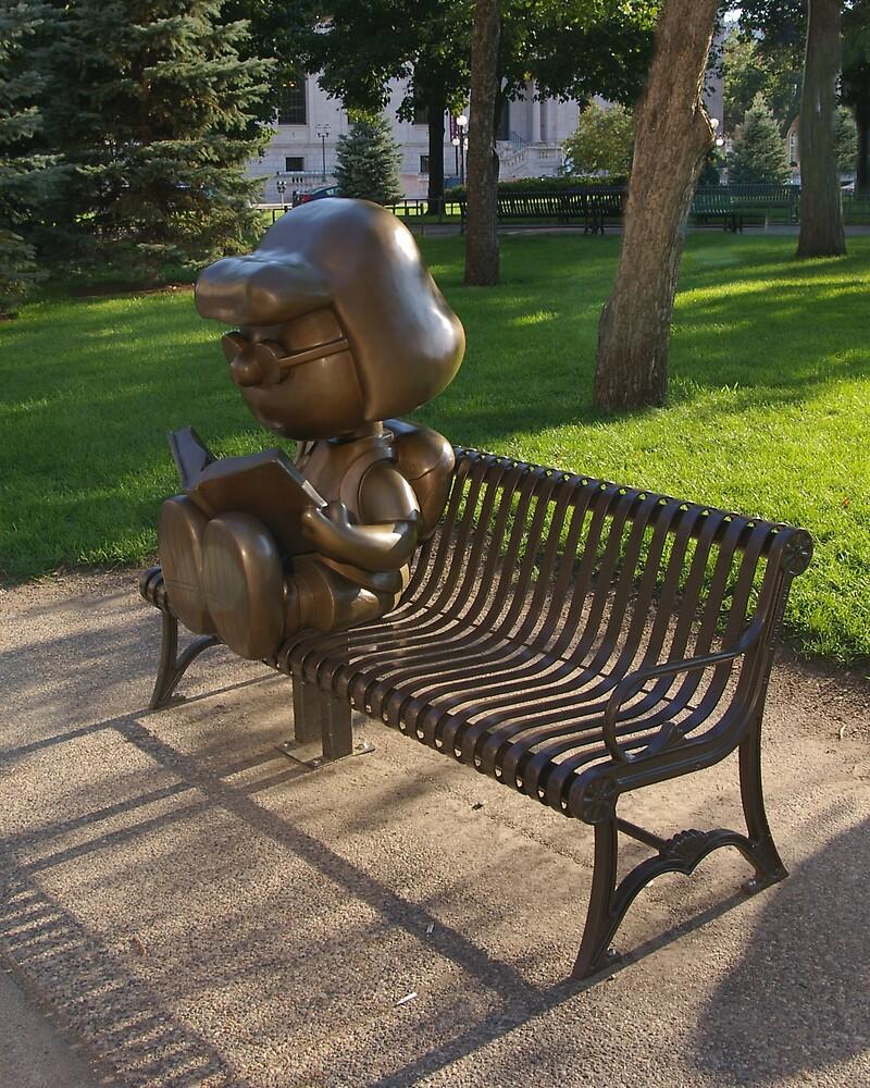 Peanuts Statues in Rice Park by Tom  Reynen