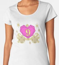 9th Birthday Carriage Princess T-Shirt Diamond Heart Nine Women's Premium T-Shirt