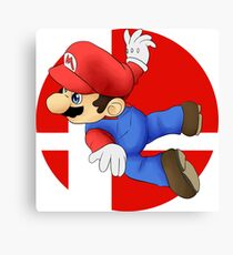 Super Smash Bros. - Mario Canvas Print