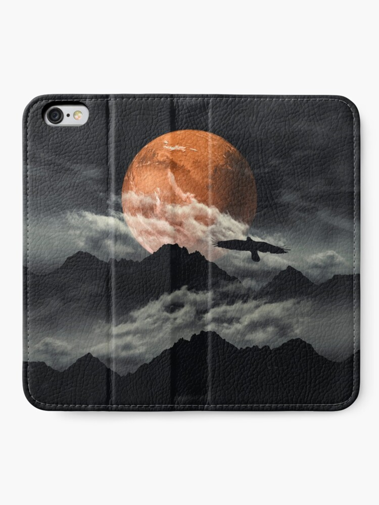 Alternate view of mars above mountains iPhone Wallet