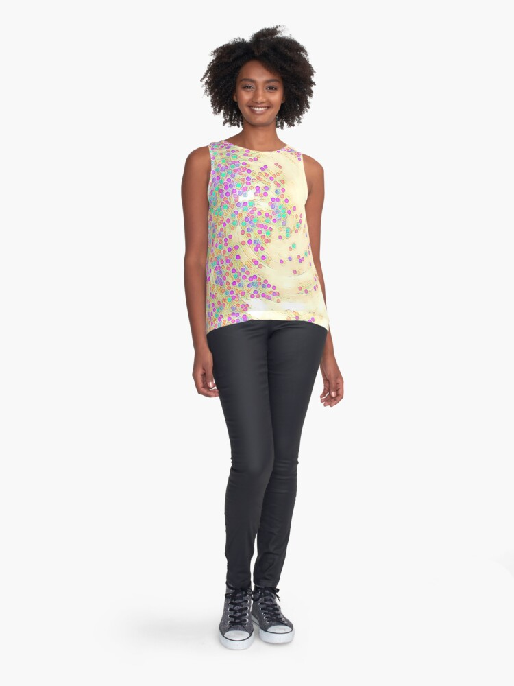 Alternate view of Color Wave Sleeveless Top