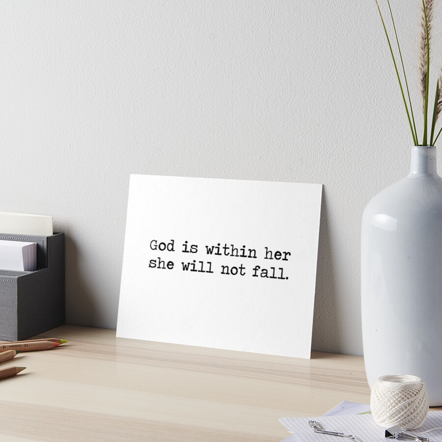 Christian Quote Art Board Print