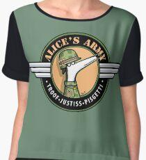 Alice's Army! (profits to Greyhound Adoption Program New South Wales) Chiffon Top