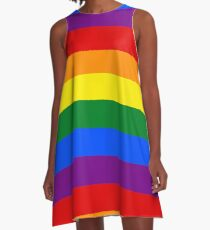 Gay Pride Rainbow Flag A-Line Dress