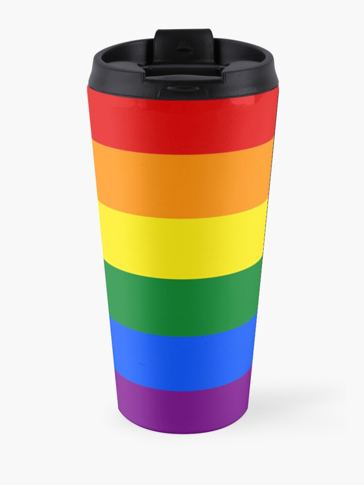 Alternate view of Gay Pride Rainbow Flag Travel Mug