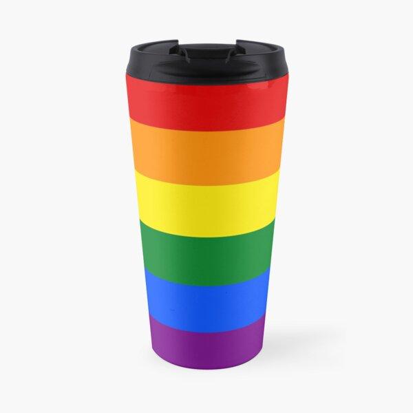 Gay Pride Rainbow Flag Travel Mug