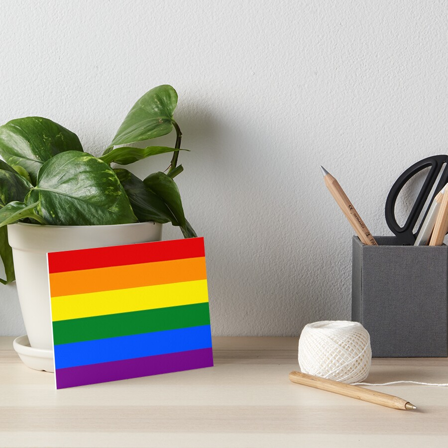Gay Pride Regenbogenfahne Galeriedruck