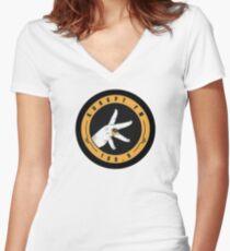 kurupt FM design Women's Fitted V-Neck T-Shirt
