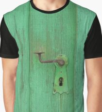 Withered Green Door Graphic T-Shirt