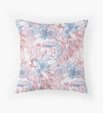 Hakea, Red and Blue Throw Pillow