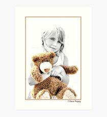 Me & My Teddie Art Print