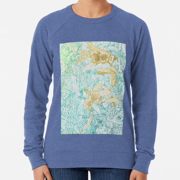 Hakea, Yellow Ochre and Aqua Blue Lightweight Sweatshirt