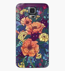 Wilde Blumen Hülle & Klebefolie für Samsung Galaxy