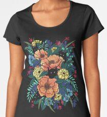 Wilde Blumen Premium Rundhals-Shirt