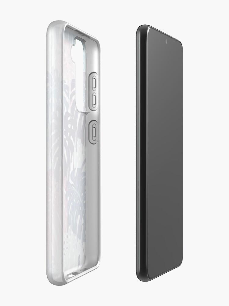 Alternate view of Monstera Melt Case & Skin for Samsung Galaxy