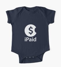 iPaid - white One Piece - Short Sleeve