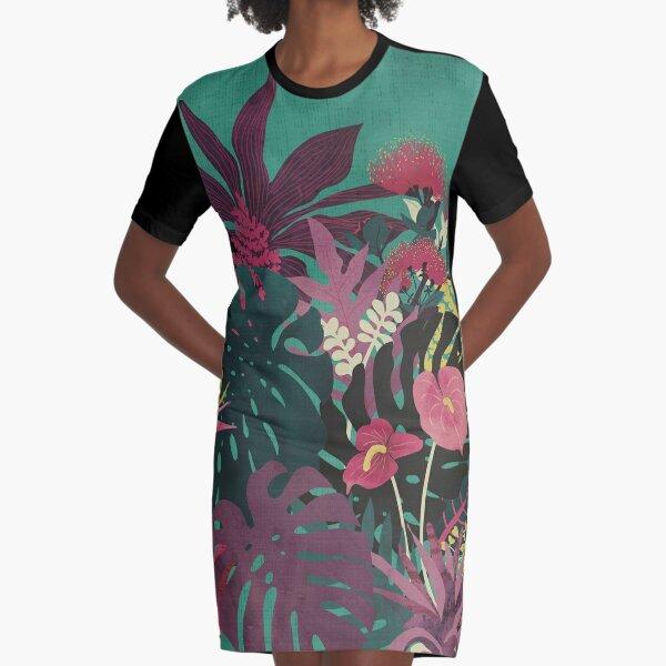 Tropical Tendencies Graphic T-Shirt Dress