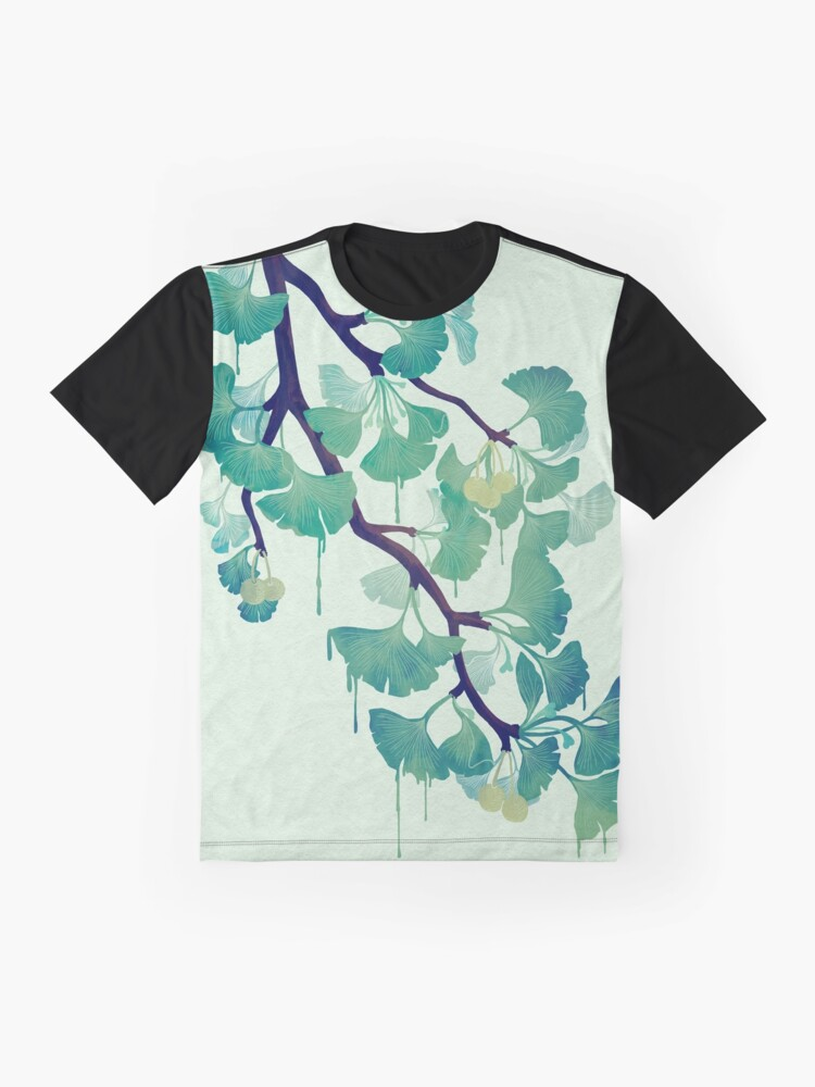 Alternate view of O Ginkgo (in Green) Graphic T-Shirt