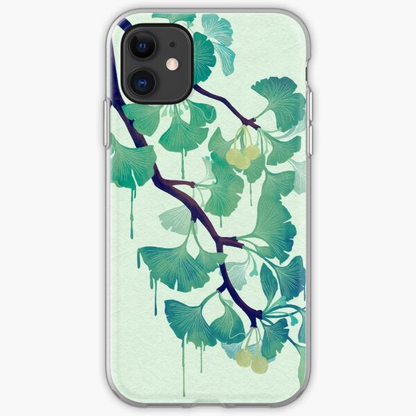 Ginkgo Vector Black on Warm Grey iPhone 11 case