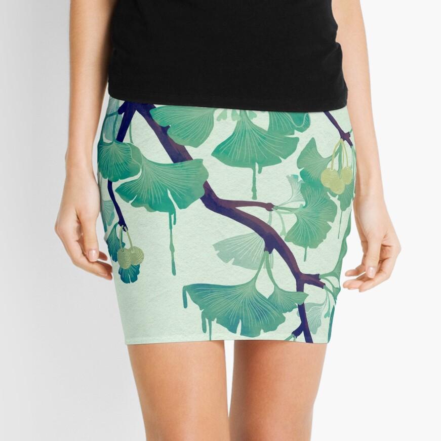 O Ginkgo (in Green) Mini Skirt