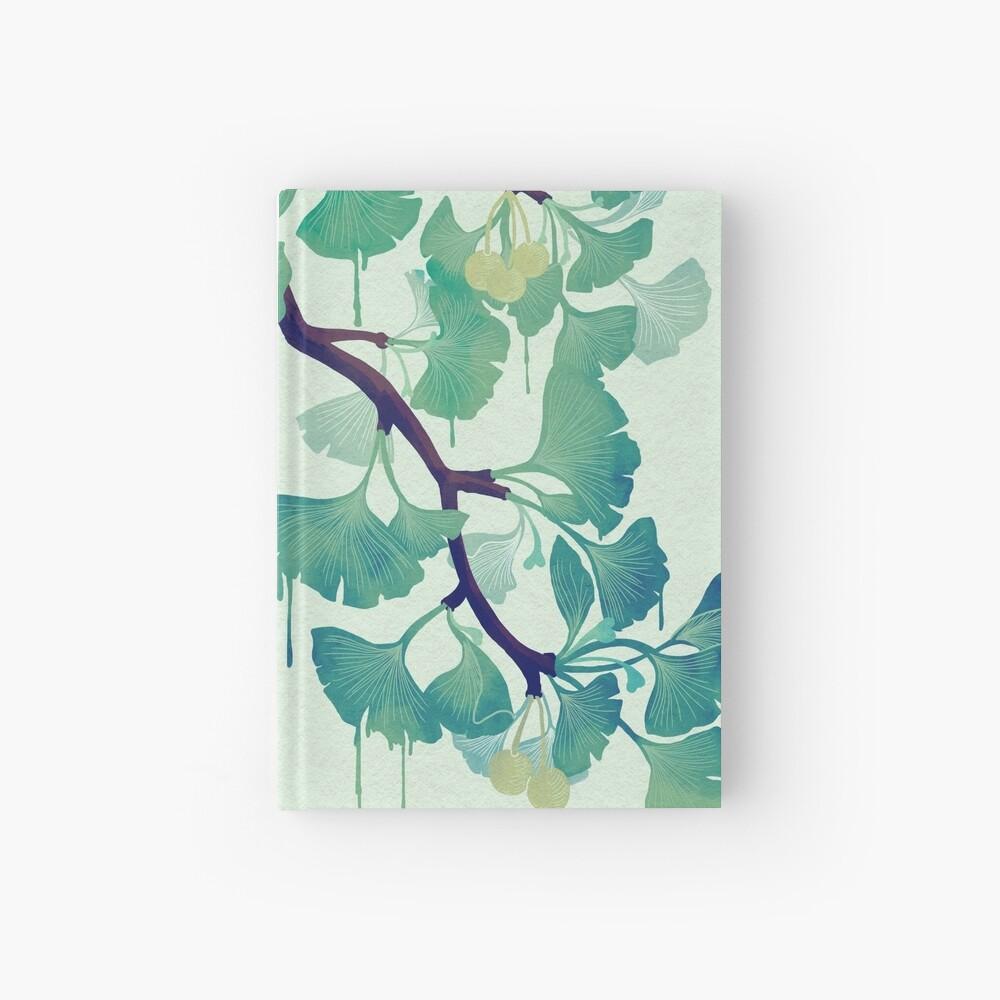 O Ginkgo (in Green) Hardcover Journal