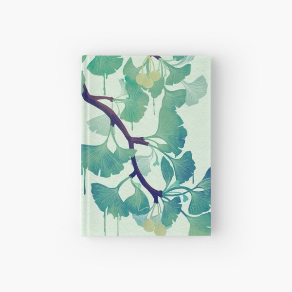 O Ginkgo (in Green) Hardcover Journal