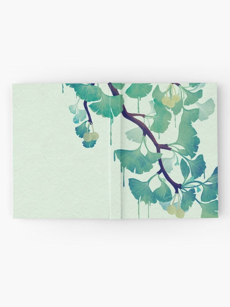 Alternate view of O Ginkgo (in Green) Hardcover Journal