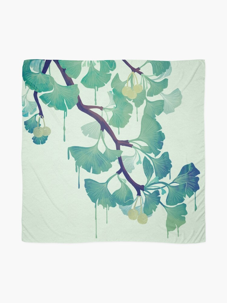 Alternate view of O Ginkgo (in Green) Scarf