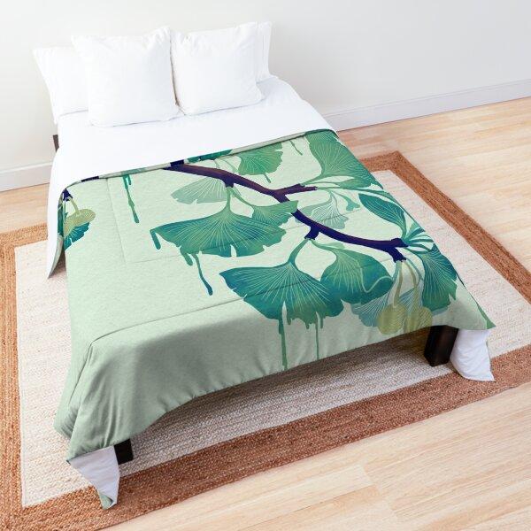 O Ginkgo (in Green) Comforter