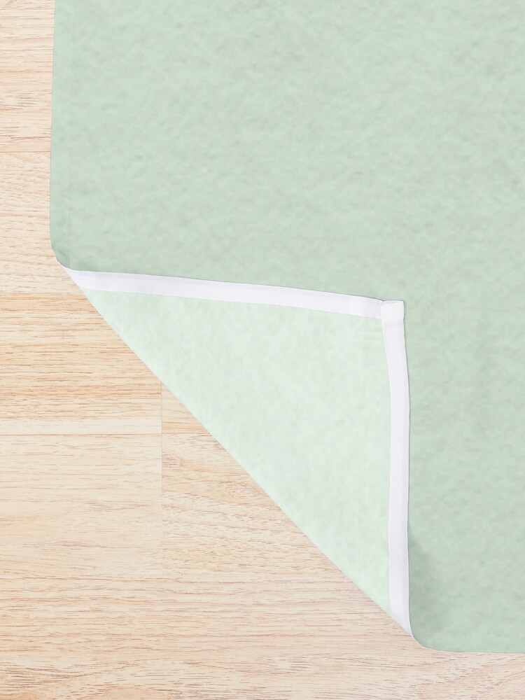 Alternate view of O Ginkgo (in Green) Shower Curtain