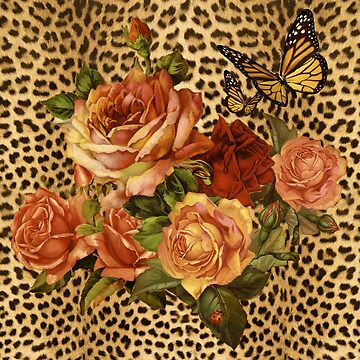 Leopard Rose Victorian Butterfly 2 by toddalan