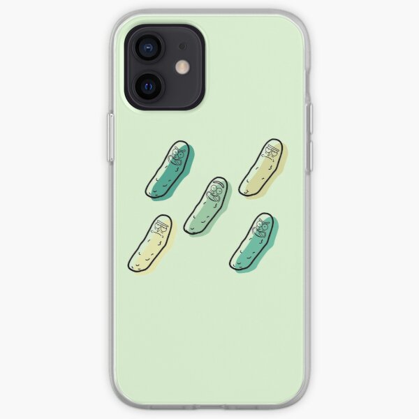 The many faces of PICKLE RICK iPhone Soft Case