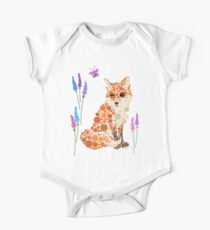 Fox Graphic Design Wildflowers Colorful Circles Bubbles Dots   Kids Clothes