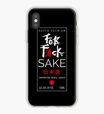 Fuck Sake (Black) iPhone Case