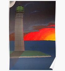 A Lighthouse Sunset Poster