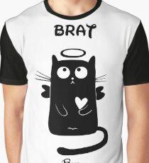 Bad cat Angel Graphic T-Shirt