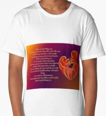 Thank You for Being You Poetry Greeting Card Long T-Shirt
