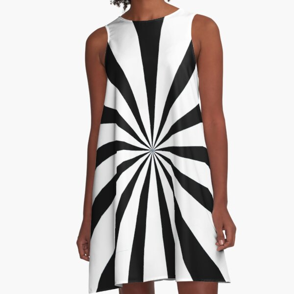 Black and white starburst  | Duvet bedspread and cushion A-Line Dress