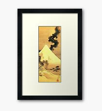 HOKUSAI, The Dragon Of Smoke Escaping From Mount Fuji Framed Print