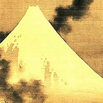 HOKUSAI, The Dragon Of Smoke Escaping From Mount Fuji by TOMSREDBUBBLE