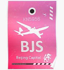 BJS Beijing Capital airport code Poster