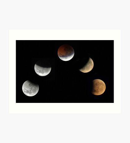 Partial Lunar Eclipse - August 17 2008  Art Print